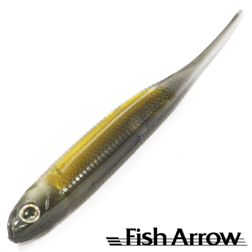 Мягкие приманки Fish Arrow Flash J 3'' SW #107 Black/Gold (5 шт в уп)