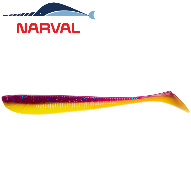 Slim Minnow 110mm Мягкие приманки Narval Slim Minnow 11sm #007 Purple Spring (5 шт в уп)