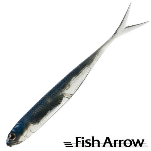 Fish Arrow Flash J Split 4'' SW #105 Maiwashi/Silver (5 шт в уп)