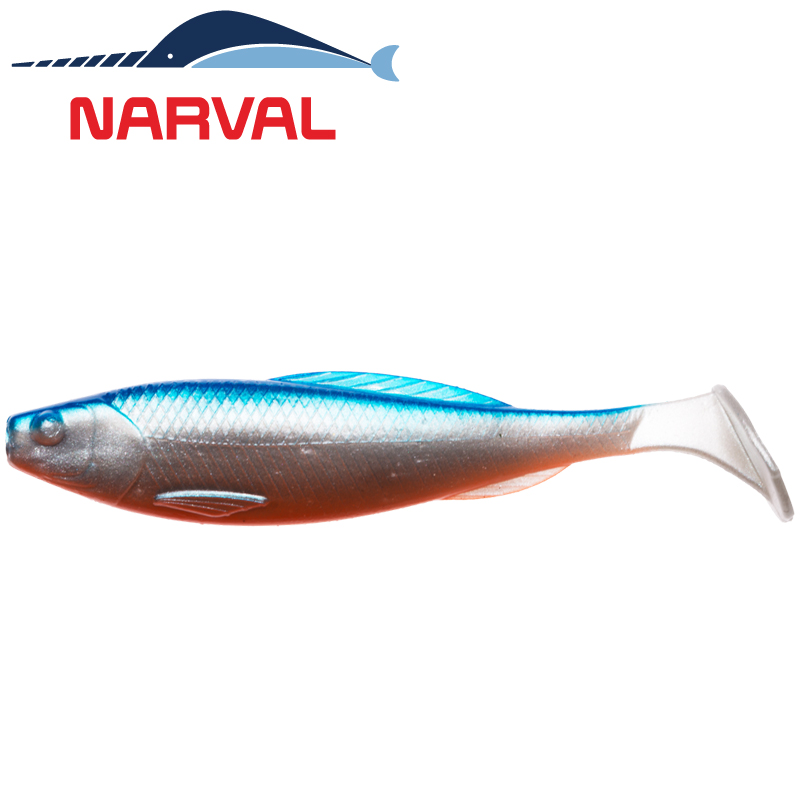Troublemaker 100mm Мягкие приманки Narval Troublemaker 10sm #001 Blue Back Shiner (5 шт в уп)