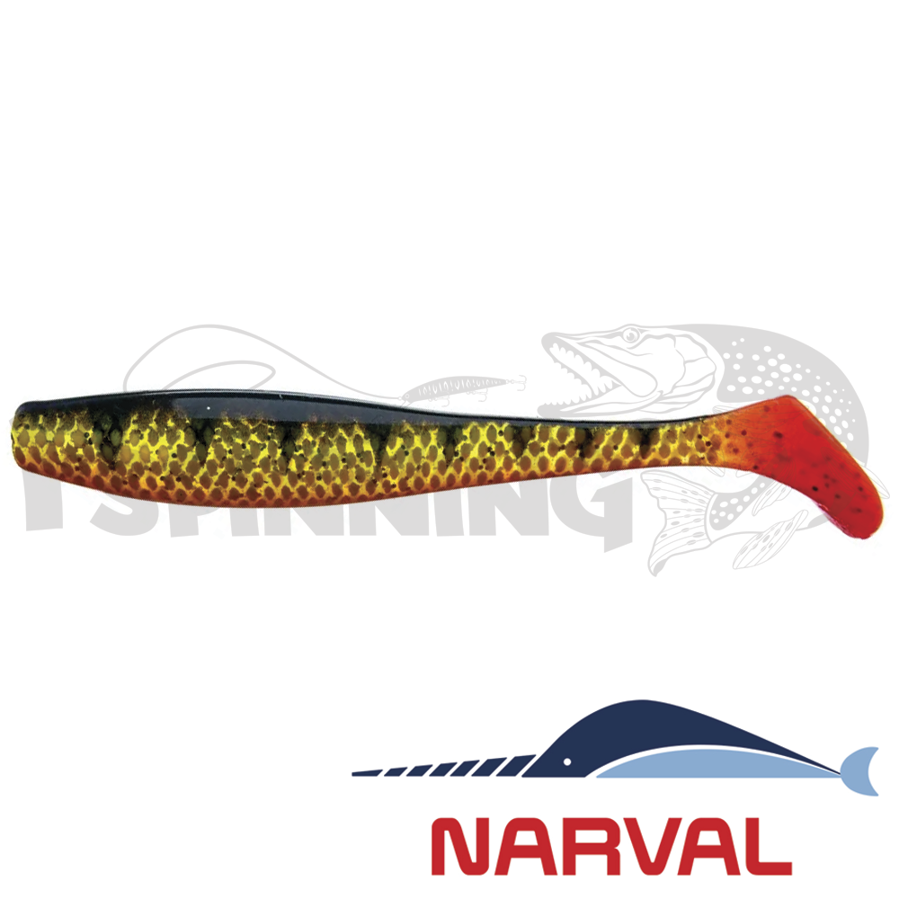 Choppy Tail 100mm Мягкие приманки Narval Choppy Tail 10sm #019 Yellow Perch (5 шт в уп)
