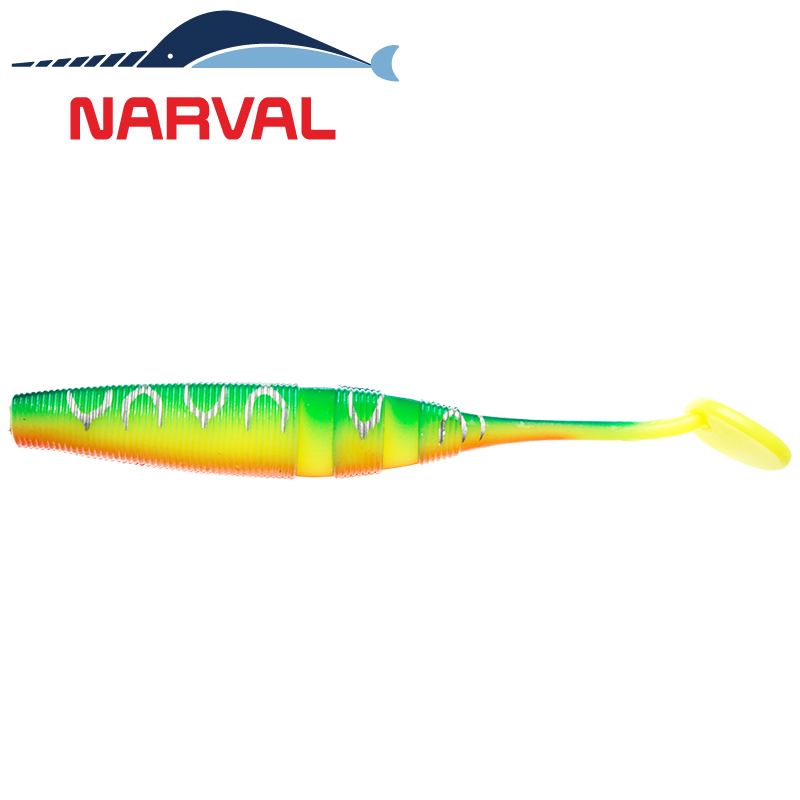 Loopy Shad 120mm Мягкие приманки Narval Loopy Shad 12sm #002 Blue Back Tiger (4 шт в уп)