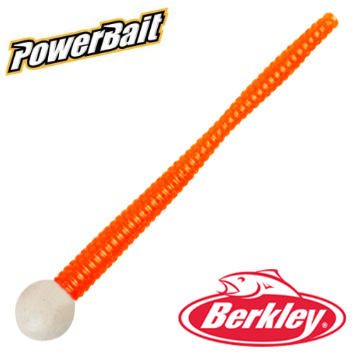 Мягкие приманки Berkley PowerBait Mice Tail 3'' #Pearl White/Fluorescent Orange