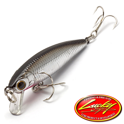 Bevy Minnow 45SP Воблер Lucky Craft Bevy Minnow 45SP 2,7gr #0596 Bait Fish Silver 177