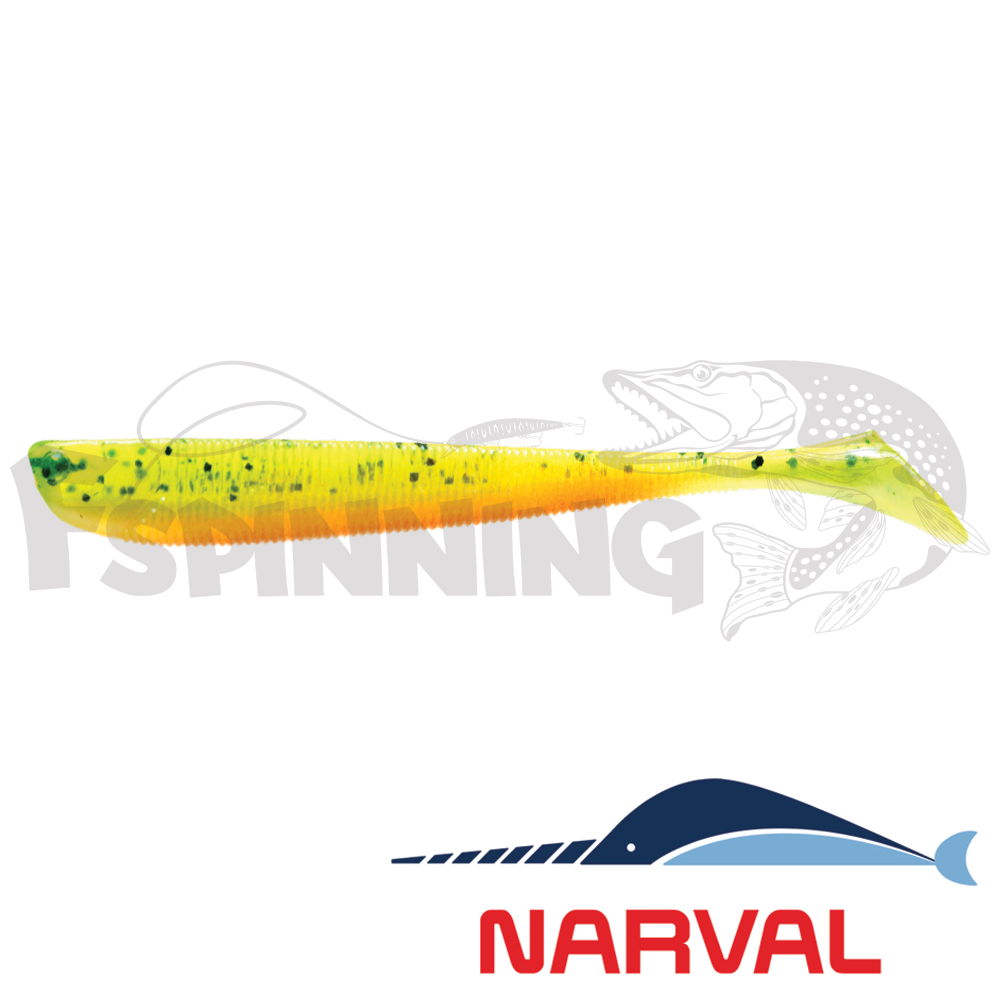 Slim Minnow 110mm Мягкие приманки Narval Slim Minnow 11sm #015 Pepper/Lemon (5 шт в уп)
