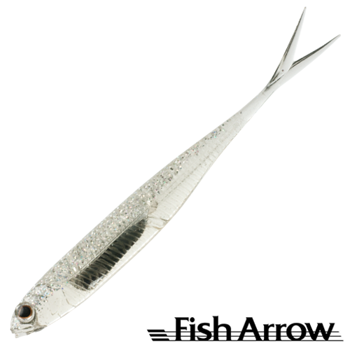 Мягкие приманки Fish Arrow Flash J Split 4'' SW #111 Clear Holo/Silver (5 шт в уп)