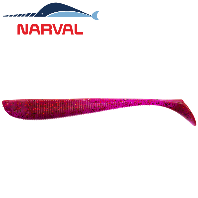 Slim Minnow 110mm Мягкие приманки Narval Slim Minnow 11sm #003 Grape Violet (5 шт в уп)