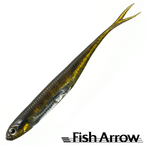 Fish Arrow Flash J Split 4'' #01-GP/Silver (5 шт в уп)