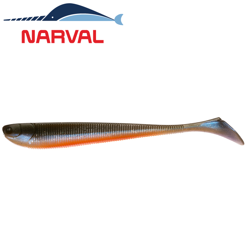Slim Minnow 160mm Мягкие приманки Narval Slim Minnow 16sm #008 Smoky Fish (3 шт в уп)