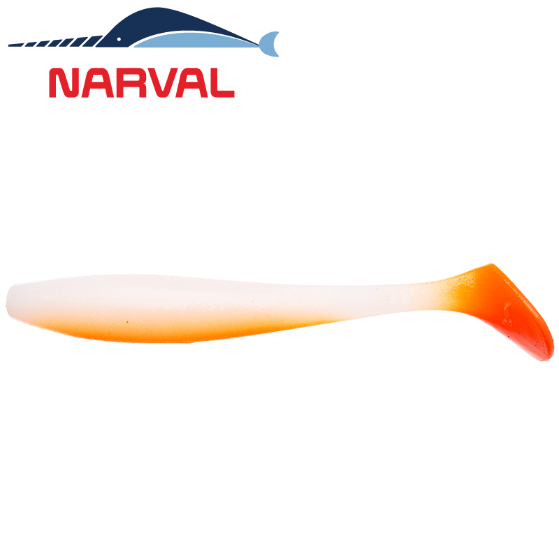 Choppy Tail 120mm Мягкие приманки Narval Choppy Tail 12sm #010 White Rabbit (4 шт в уп)