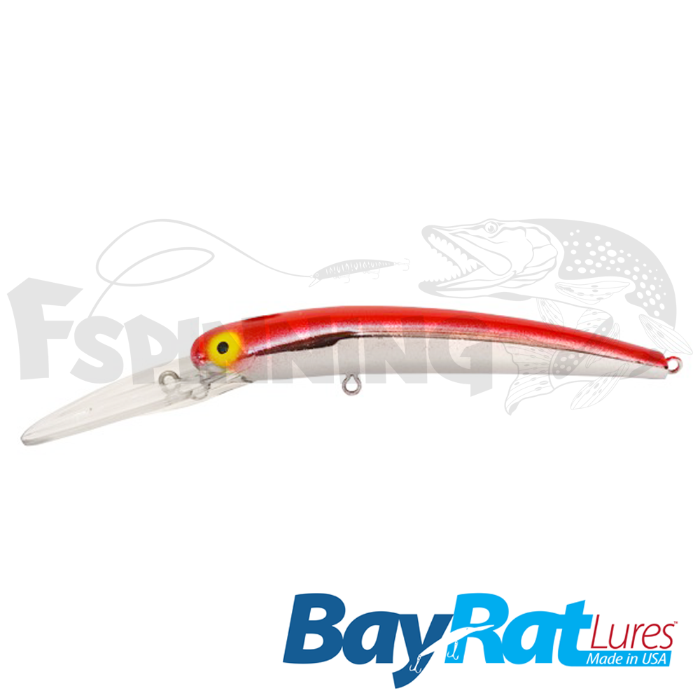 Long Extra Deep 100F Воблер Bay Rat Lures Long Extra Deep 100F 15.8gr #43 red chrome