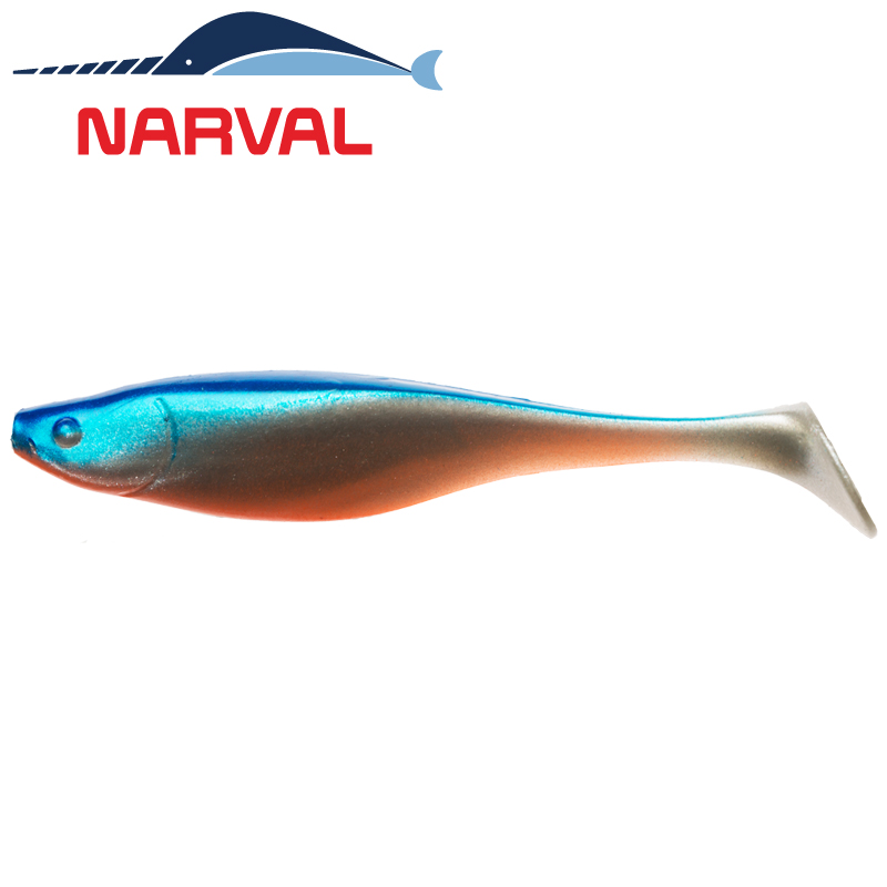 Commander Shad 140mm Мягкие приманки Narval Commander Shad 14sm #001 Blue Back Shiner (3 шт в уп)