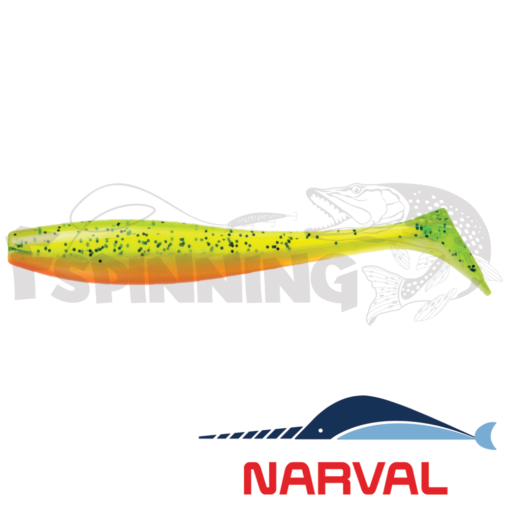 Choppy Tail 80mm Мягкие приманки Narval Choppy Tail 8sm #015 Pepper/Lemon (6 шт в уп)