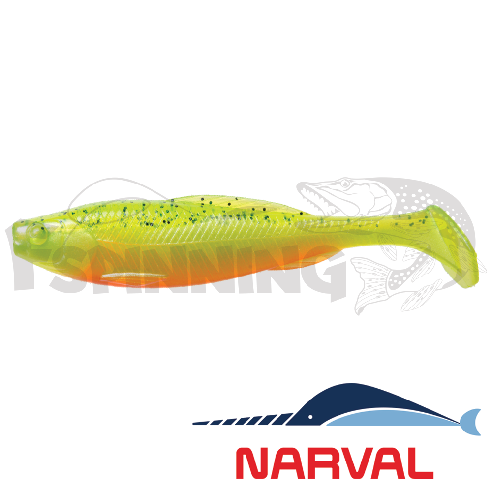 Troublemaker 100mm Мягкие приманки Narval Troublemaker 10sm #015 Pepper/Lemon (5 шт в уп)