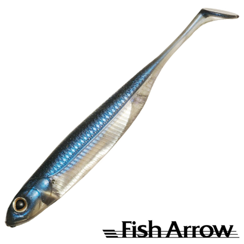 Flash J Shad 4'' Мягкие приманки Fish Arrow Flash J Shad 4'' #04 Problue/Silver (6 шт в уп)