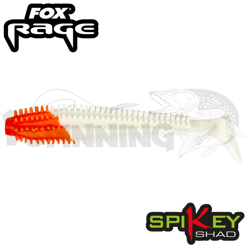 Rage Spikey Shad 3,5''/90mm Мягкие приманки Fox Rage Spikey Shad Bulk 3,5''/90mm #Red Head (1 шт в уп)
