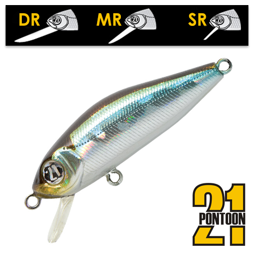 Воблер Pontoon21 Crackjack 48SP-DR 3,7gr #005
