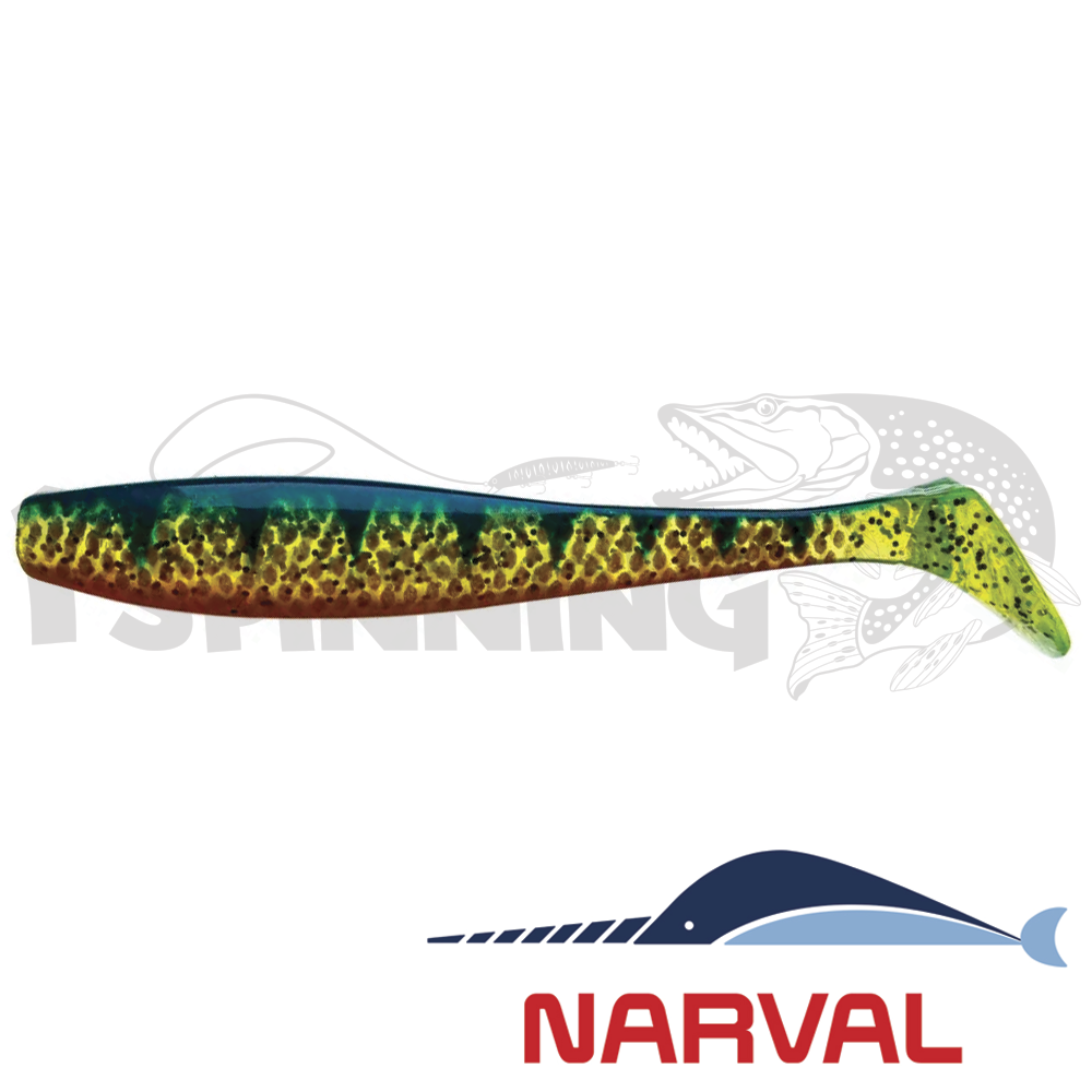 Choppy Tail 80mm Мягкие приманки Narval Choppy Tail 8sm #018 Blue Perch (6 шт в уп)