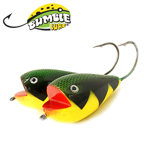 Глиссер Bumble Lure Killer Frog KF-15PFT Perch Fire Tiger 15гр