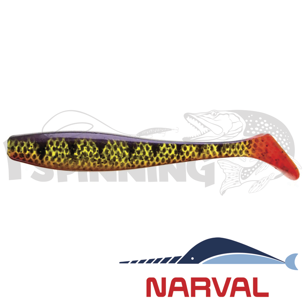 Choppy Tail 80mm Мягкие приманки Narval Choppy Tail 8sm #020 Magic Perch (6 шт в уп)