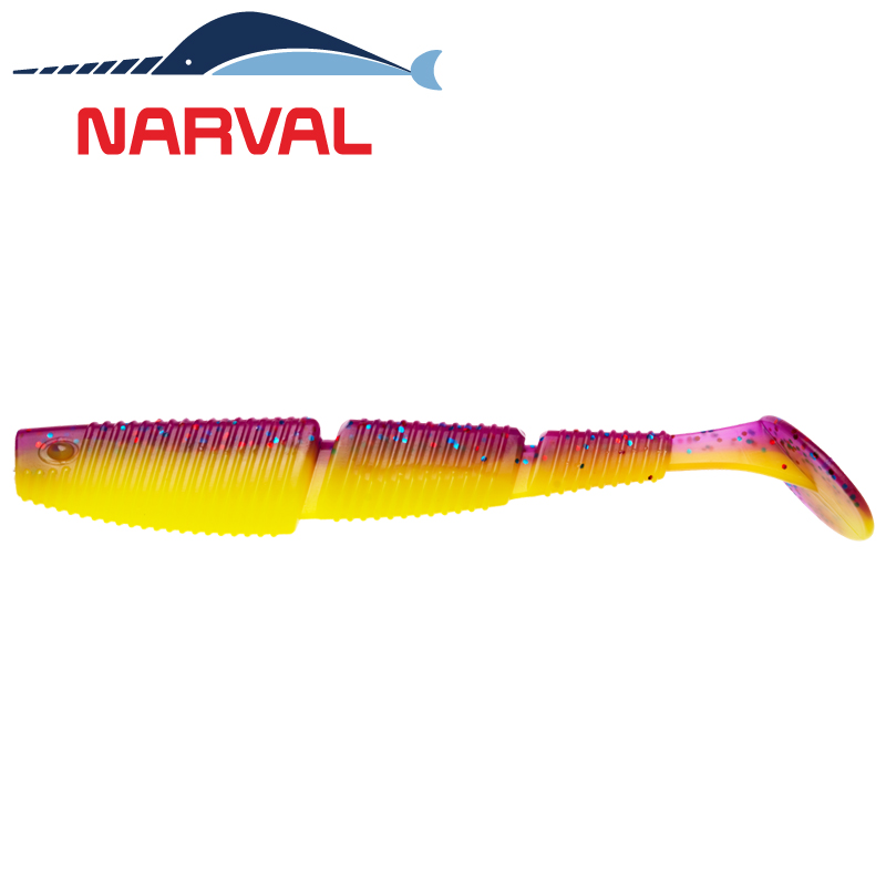 Complex Shad 120mm Мягкие приманки Narval Complex Shad 12sm #007 Purple Spring (4 шт в уп)