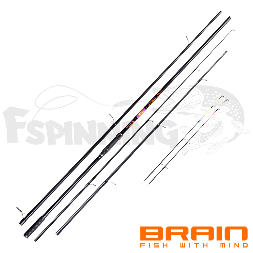 Apex Double Карповое/фидерное удилище Brain Apex Double 3.9m carp-3.5lb/feeder-150gr