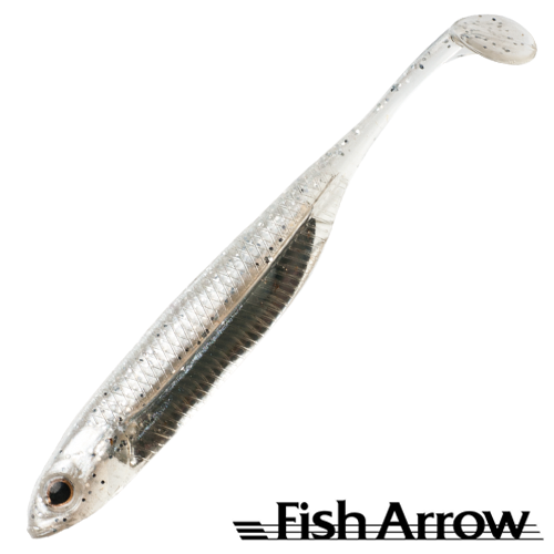 Fish Arrow Flash J Shad 4'' SW #100 Shirasu/Silver (5 шт в уп)
