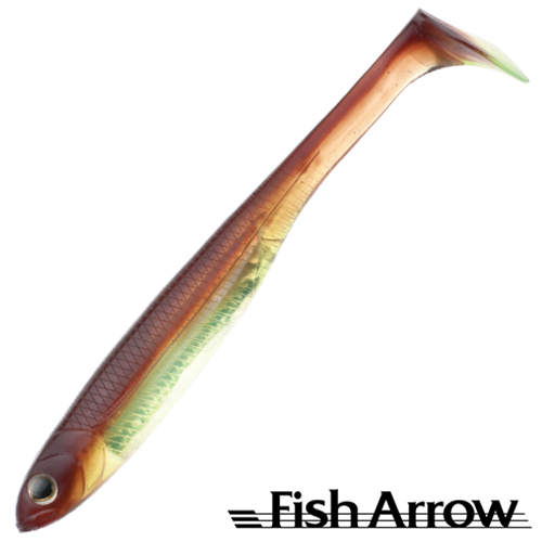 Fish Arrow Flash J Shad 5'' SW #114 Moto Oil/Silver (4 шт в уп)