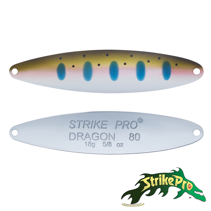 Блесна колебалка Strike Pro Dragon Treble 80M 18,0gr ST-07F#485-1-CP
