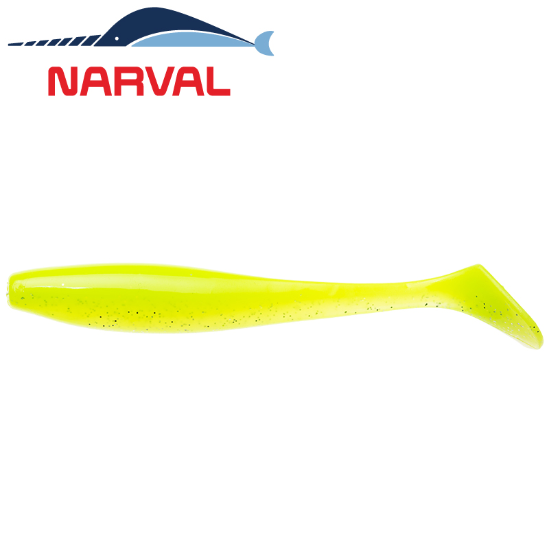 Choppy Tail 100mm Мягкие приманки Narval Choppy Tail 10sm #004 Lime Chartreuse (5 шт в уп)