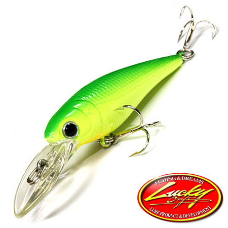 Bevy Shad 50F Воблер Lucky Craft Bevy Shad 50F 3,2gr #0019 Lime Chart 085
