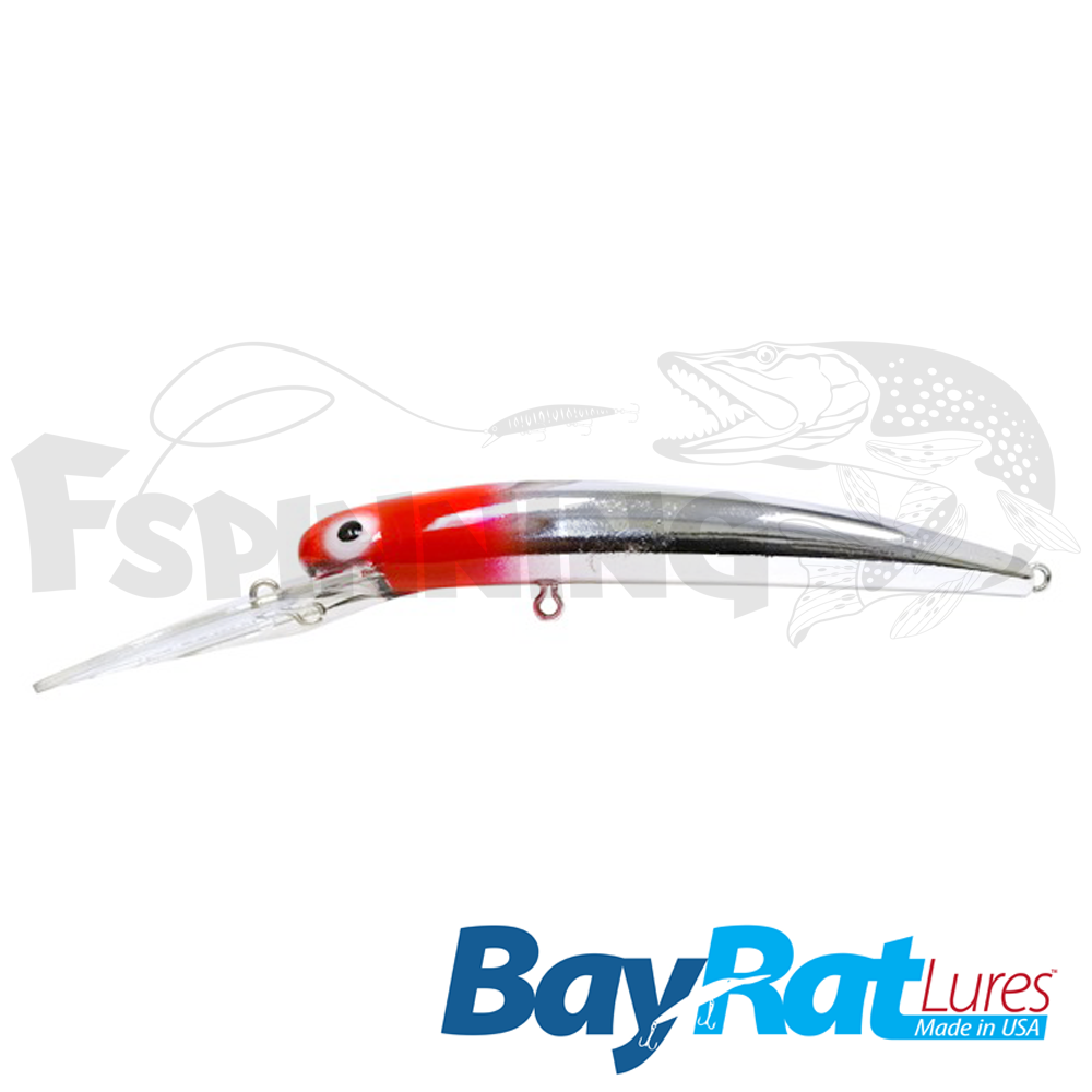 Long Extra Deep 100F Воблер Bay Rat Lures Long Extra Deep 100F 15.8gr #44 red head chrome