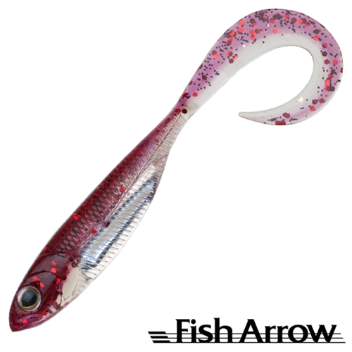 Мягкие приманки Fish Arrow Flash J Grub 4,5'' SW #124 Red/Silver (5 шт в уп)