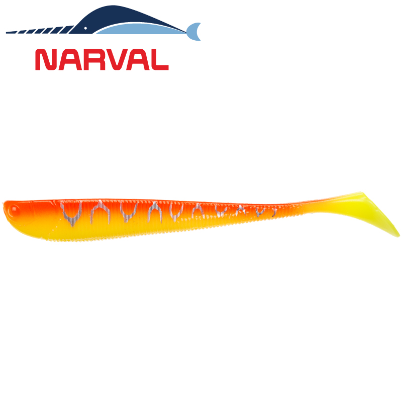 Slim Minnow 110mm Мягкие приманки Narval Slim Minnow 11sm #009 Sunset Tiger (5 шт в уп)