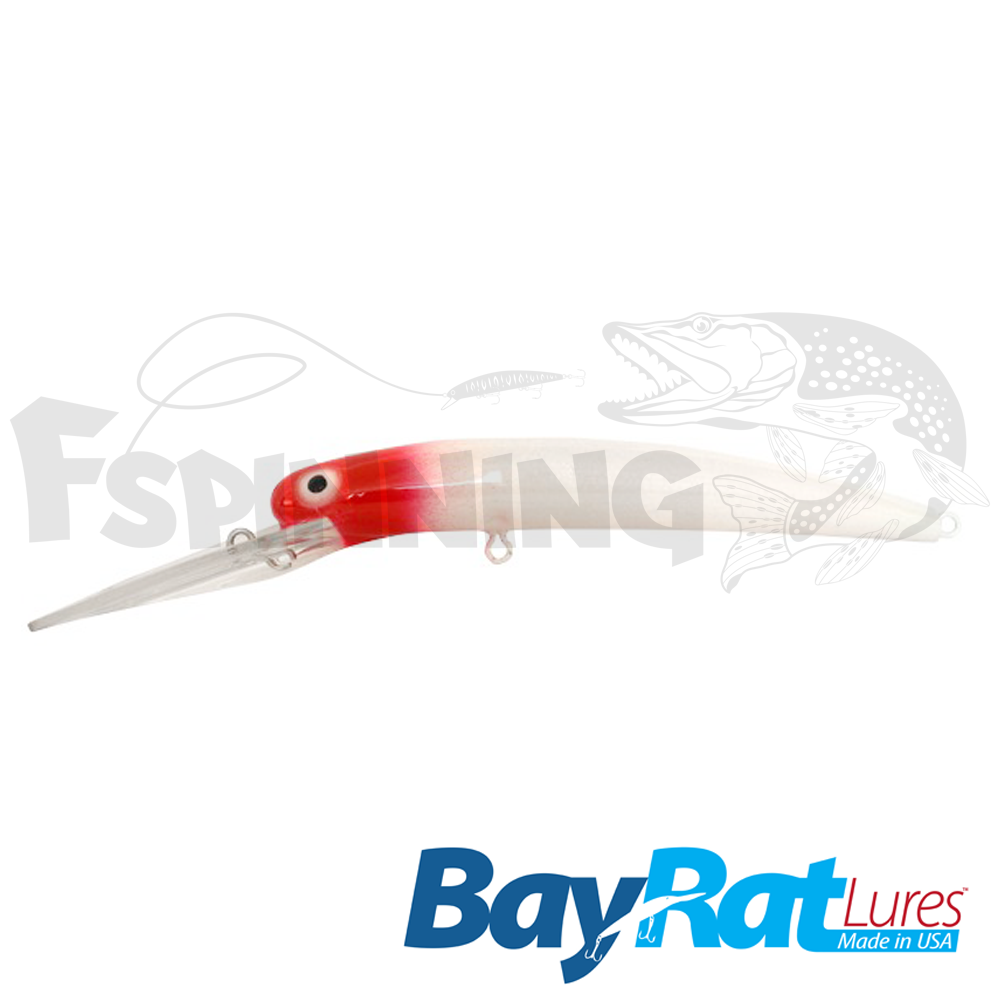 Long Extra Deep 100F Воблер Bay Rat Lures Long Extra Deep 100F 15.8gr #red head pearl