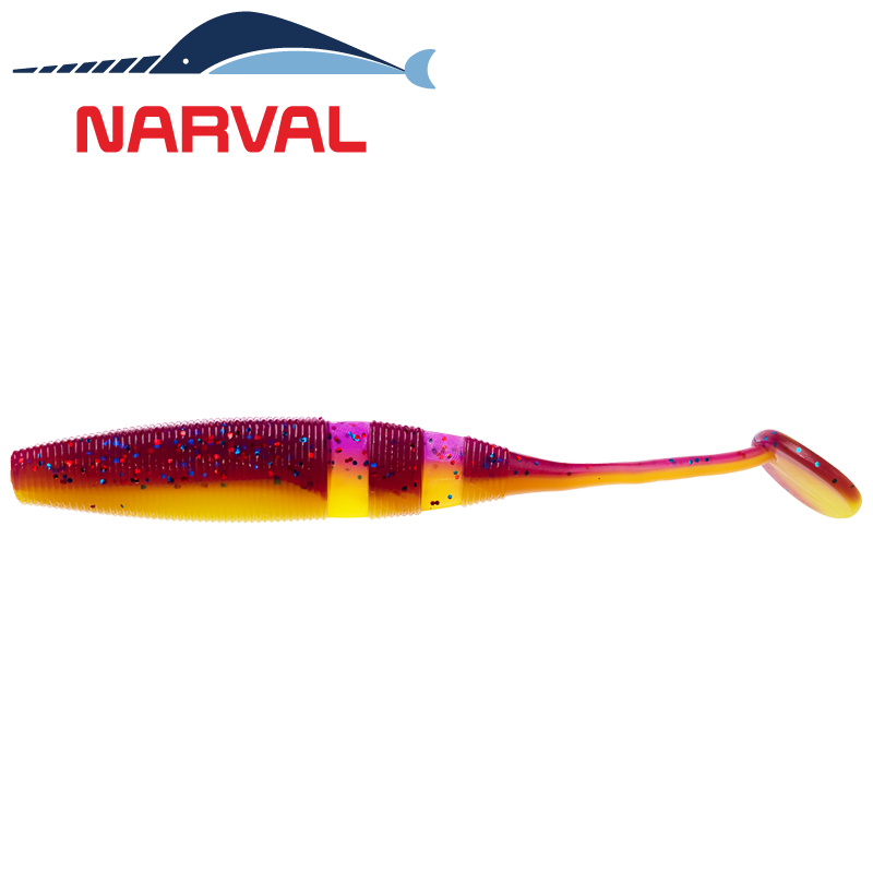 Loopy Shad 120mm Мягкие приманки Narval Loopy Shad 12sm #007 Purple Spring (4 шт в уп)