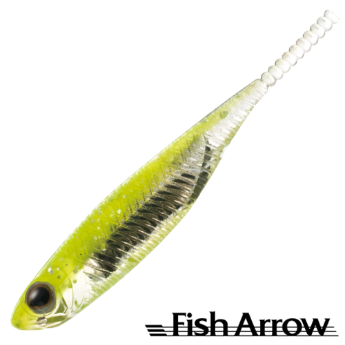 Fish Arrow Flash J 1'' SW #102 Chartreuse/Silver (5 шт в уп)