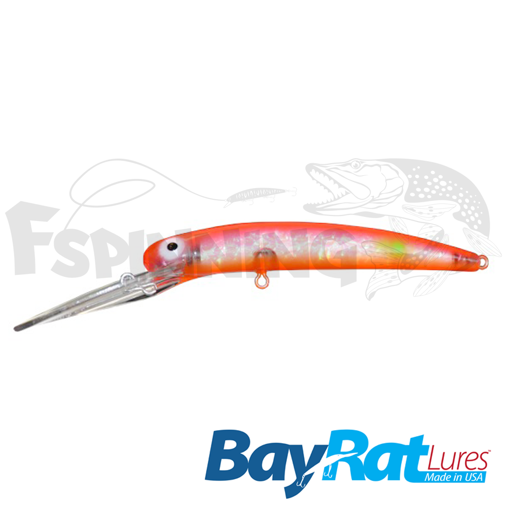 Long Extra Deep 100F Воблер Bay Rat Lures Long Extra Deep 100F 15.8gr #45 red hot