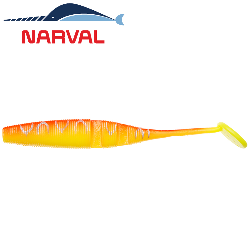Loopy Shad 120mm Мягкие приманки Narval Loopy Shad 12sm #009 Sunset Tiger (4 шт в уп)