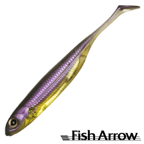 Flash J Shad 4'' Мягкие приманки Fish Arrow Flash J Shad 4'' #05 Purple Weenie/Silver (6 шт в уп)