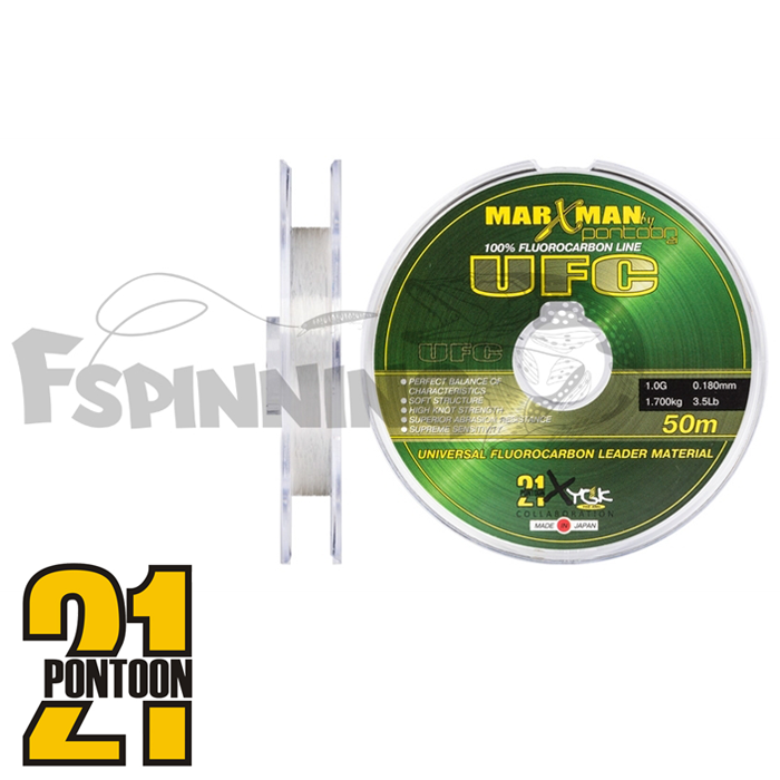 Pontoon 21 Флюорокарбон Pontoon21 Marxman UFC 50m #0,180mm/1,7kg/3,5lb