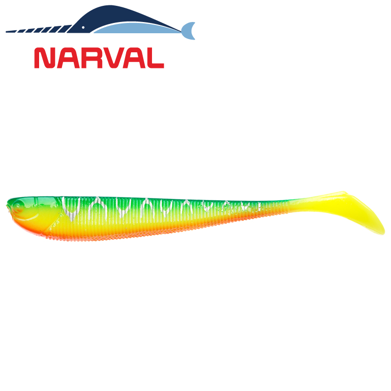 Slim Minnow 110mm Мягкие приманки Narval Slim Minnow 11sm #002 Blue Back Tiger (5 шт в уп)