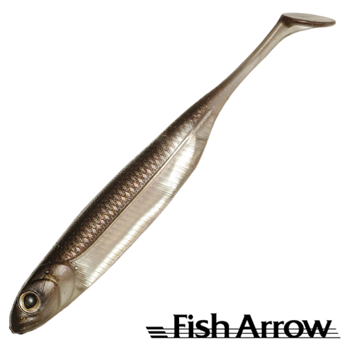 Flash J Shad 4'' Мягкие приманки Fish Arrow Flash J Shad 4'' #07 Wakasagi/Silver (6 шт в уп)