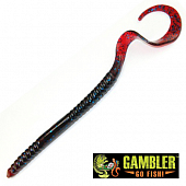 Ribbon Tail 10'' Мягкие приманки Gambler Ribbon Tail 10'' #Plum Blue Glitter (10 шт в уп)