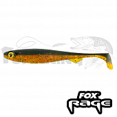 Slick Shad 90mm Мягкие приманки Fox Rage Slick Shad Ultra UV Bulk 90mm #dark oil (1шт в уп)