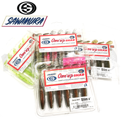 One'Up Shad Slim 4'' Мягкие приманки Sawamura One'up Shad Slim 4'' #051 (6шт в уп)