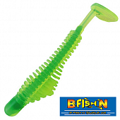 Pulse-R Paddle Tail 3,5'' Мягкие приманки B Fish & Tackle Pulse-R Paddle Tail 3,5'' #Chartreuse/Green Core (8 шт в уп)