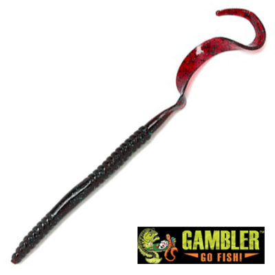 Ribbon Tail 10'' Мягкие приманки Gambler Ribbon Tail 10'' #Red Bug (10 шт в уп)