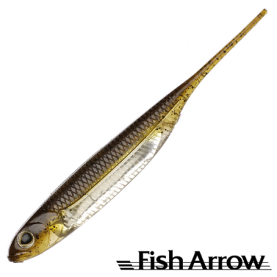 Flash J 5'' Мягкие приманки Fish Arrow Flash J 5'' #01 GP/Silver (4 шт в уп)