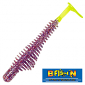 Pulse-R Paddle Tail 3,5'' Мягкие приманки B Fish & Tackle Pulse-R Paddle Tail 3,5'' #PurpleCracker/Chart Tail (8 шт в уп)